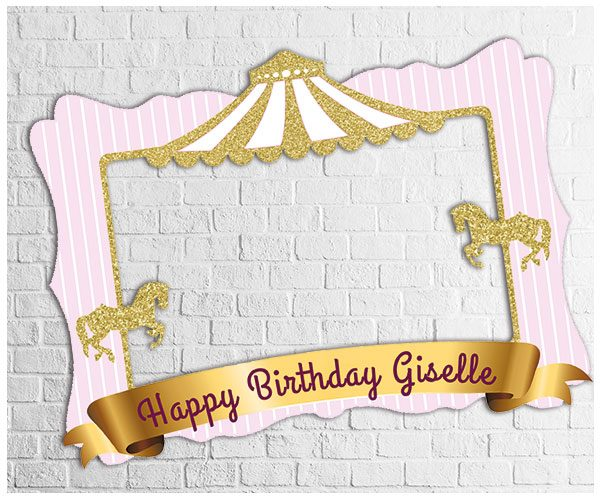 Carousel theme party photo frame