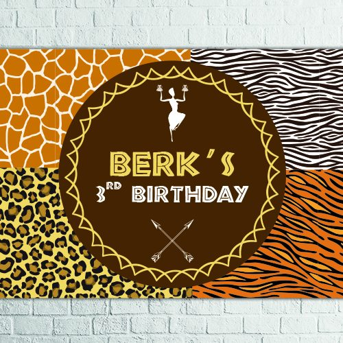 Safari birthday party backdrop