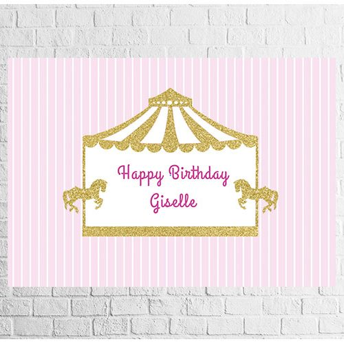 carousel theme birthday backdrop