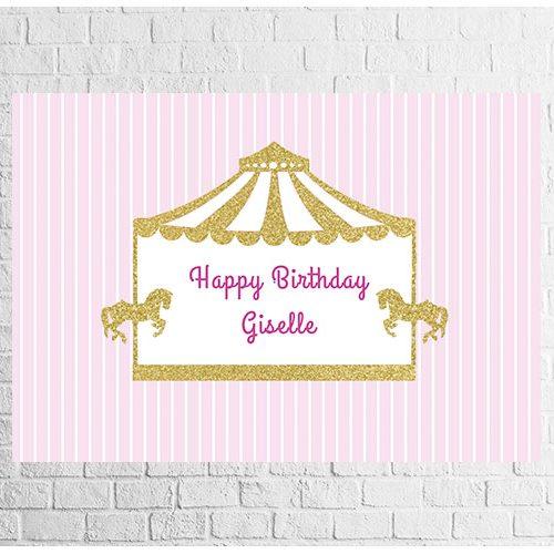 carousel theme birthday backdrop