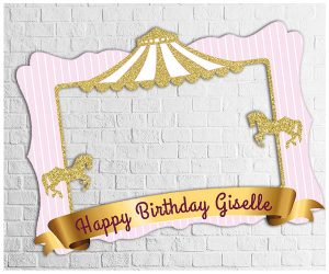 Carousel theme party photo frame