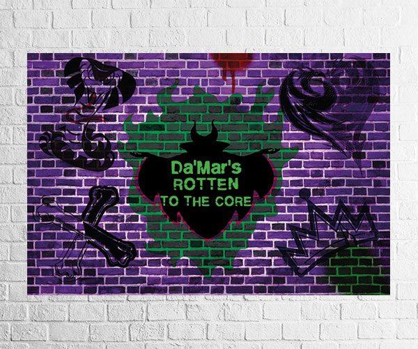 Descendants party backdrop design