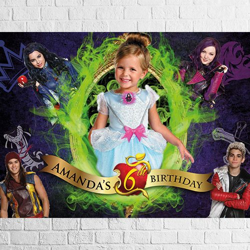 Descendants party backdrop design