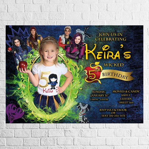 descendants party invitation design