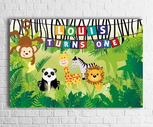 jungle theme party backdrop