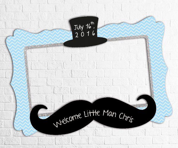little man birthday photo frame design