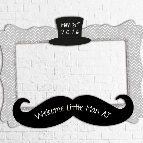 little man birthday photo frame design