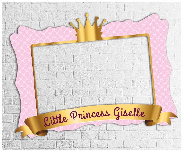 Little Princess Photo Frame | Digital Party Photo Booths