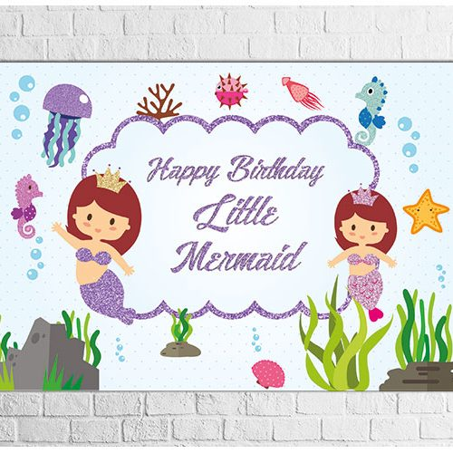 Mermaid Birthday party backdrop design