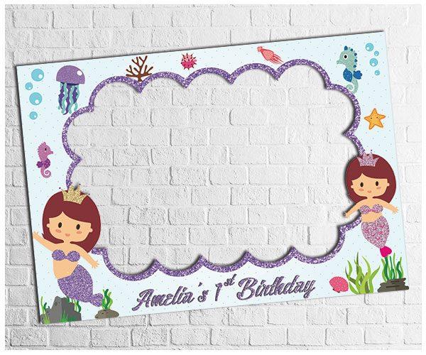 Mermaid Theme Party photo frame design