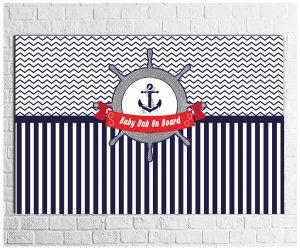 Nautical theme party backdrop