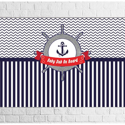 Nautical theme party backdrop
