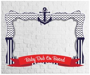 Nautical theme party photo frame