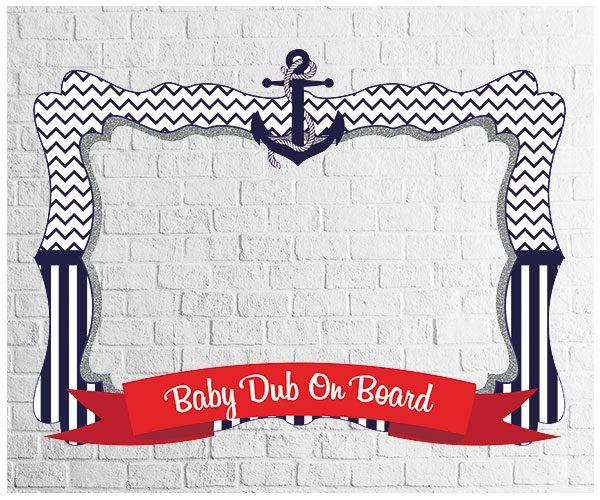 Nautical theme party photo frame