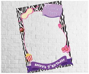 SleepOver Party theme photo frame