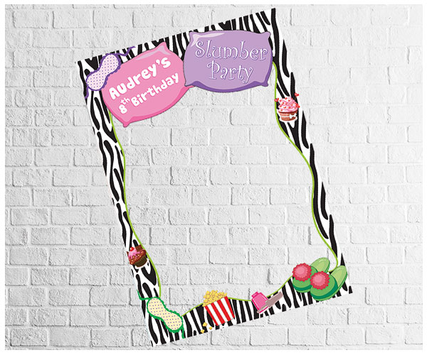 Sleepover Party Photo Frame 2 | Digital Party Photo Booths