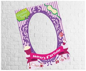 SleepOver Party theme photo frame