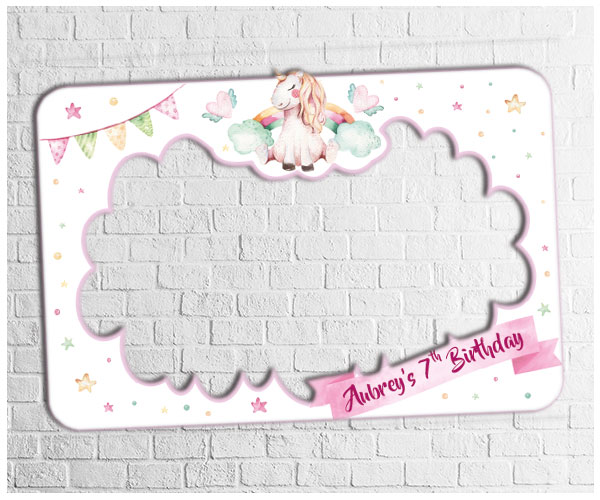 Unicorn Party Photo Frame | Digital Party Photo Booths