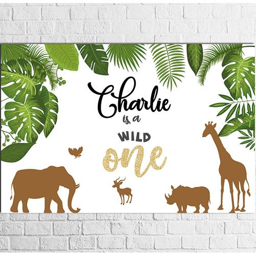 Wild One Theme party backdrop design