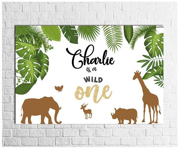 Wild One Theme party backdrop design